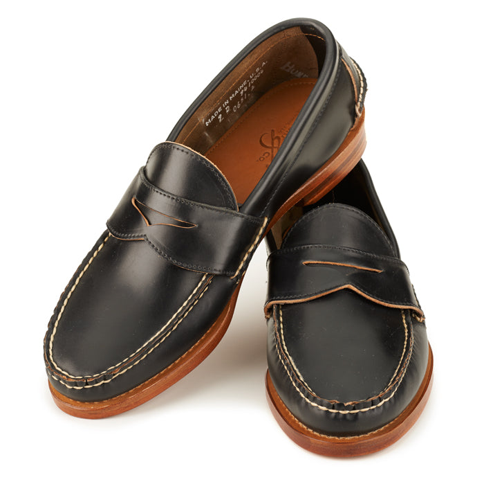 Pinch Penny Loafers - Black Shell Cordovan