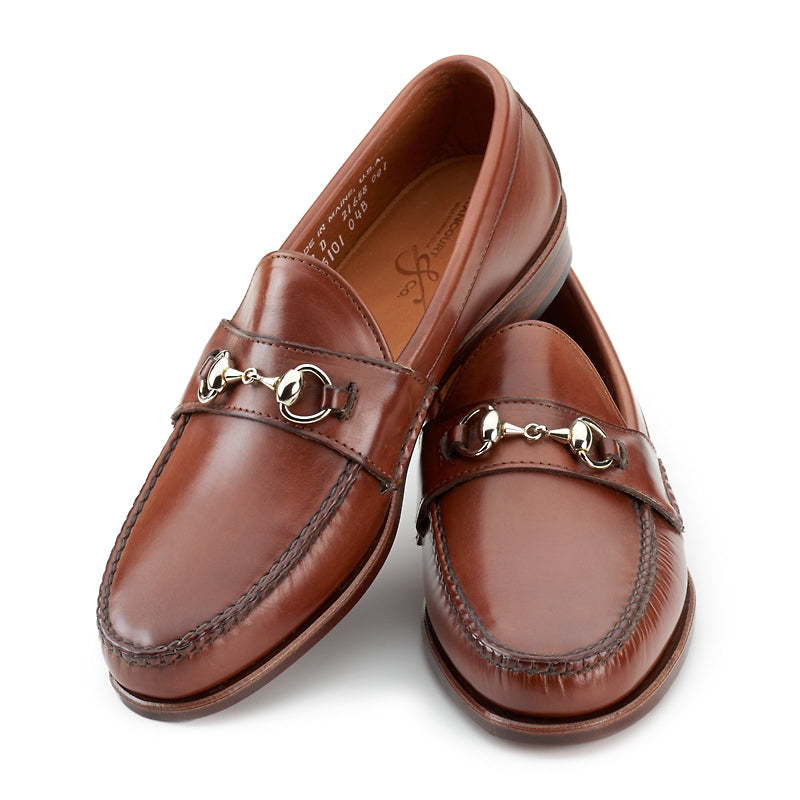 Horsebit Loafers - Tan Calf