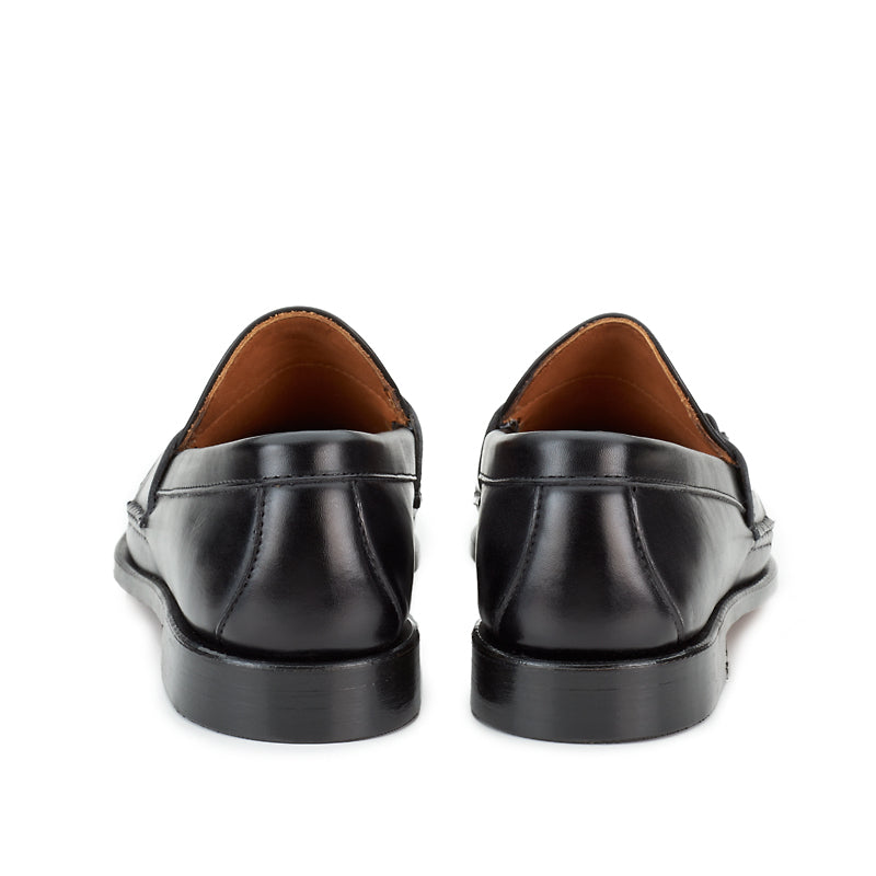 Horsebit Loafers - Black Calf