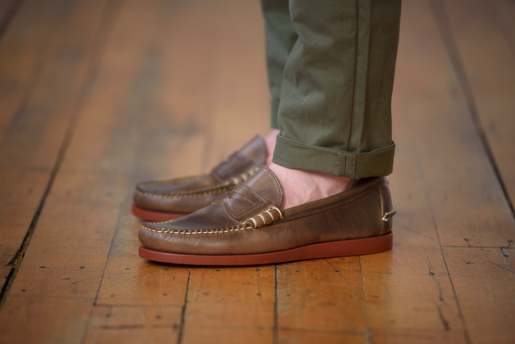 Beefroll Penny-moc — Natural Chromexcel