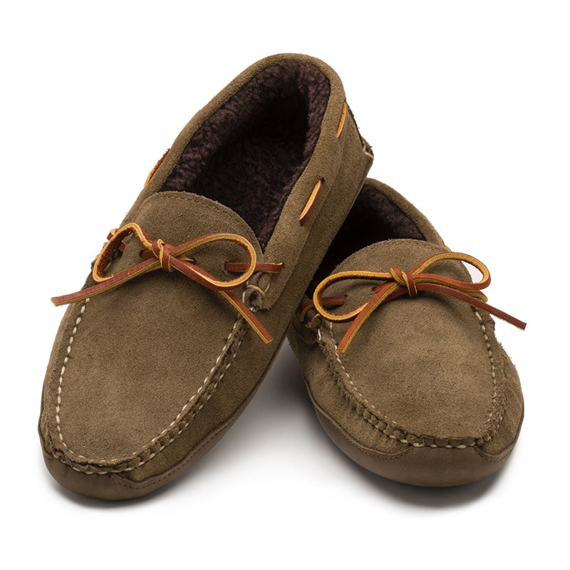 Freeman Slipper - Loden Suede