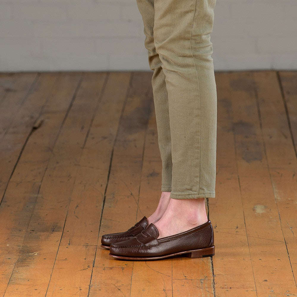 Somerset Penny Loafers - Chocolate Scotch Grain