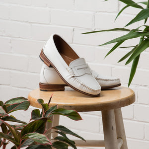 Women's Beefroll Penny Loafers - White