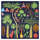 130cm Luxury Brand Scarf New Design Sago Cycas Palm Tree Square Scarf Twill Silk Scarf Women Bandanna Scarves For Ladies Shawl