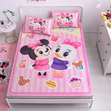 Disney 3PCS Cartoon Baby Bedding Set Cot Crib Bedding Set For Girls Boys Quilt Cover Baby Bed Cartoon Mickey Minnie Princess