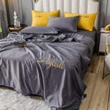 Solid color Washed silk summer quilt Blanket Air Condition Comforters sleeping coolness Queen King thin quilt for Kids Adult