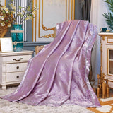 Tencel Silk Jacquard Quilts Summer Thin Quilt Air Conditioner Quilt Comforter Blanket King Queen 1PC Free Shipping #sw
