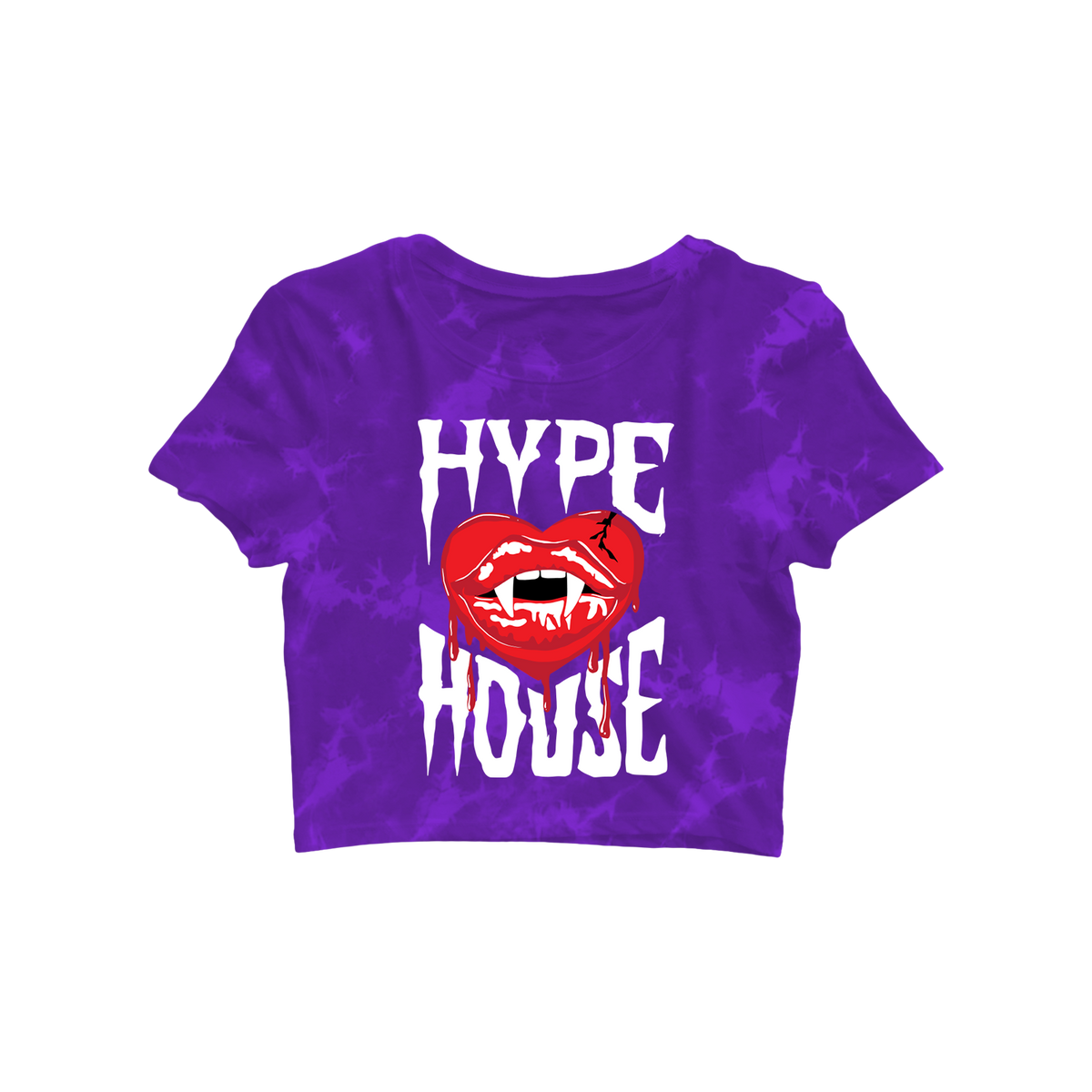 Vampire Heart Crop Tee - Purple