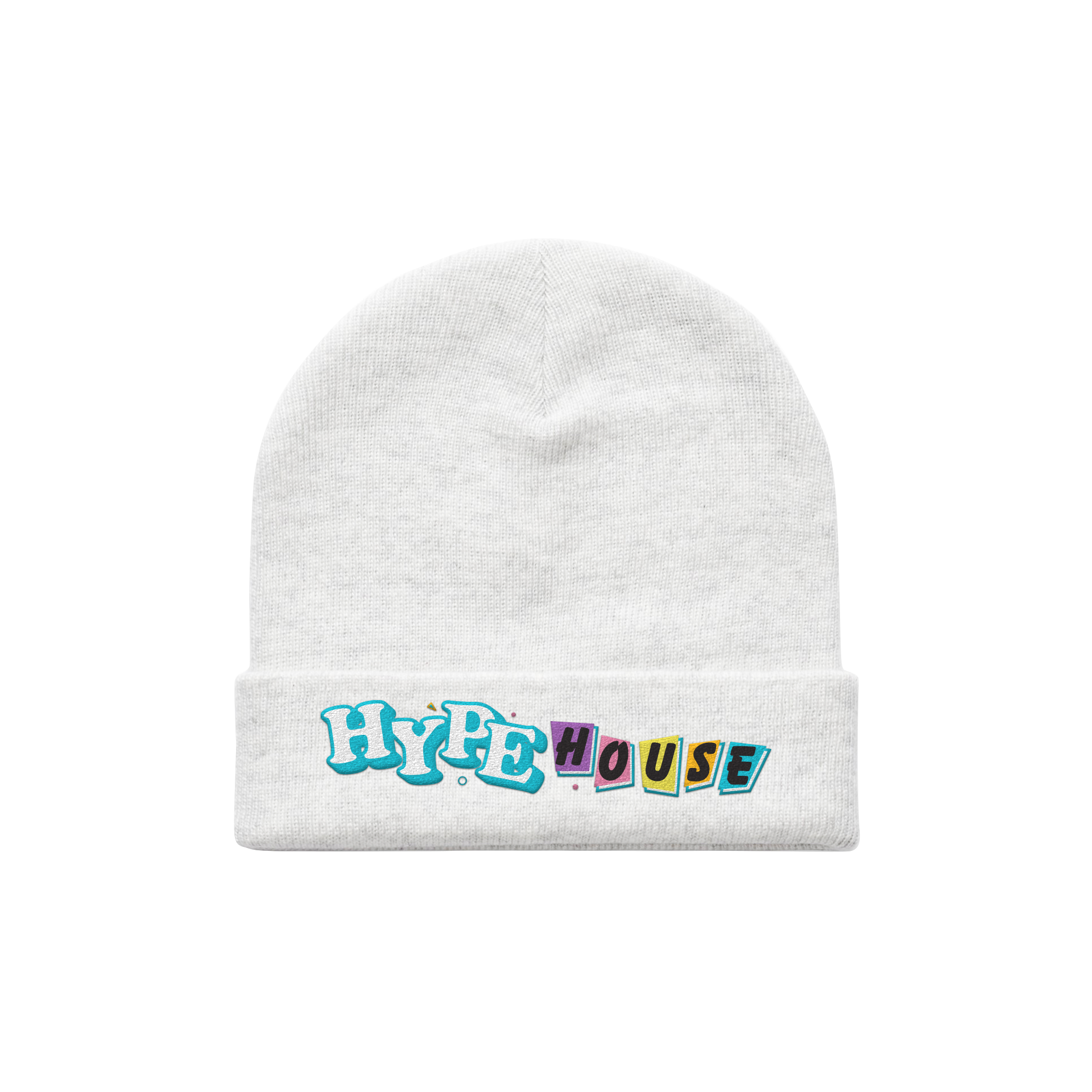 Full House White Beanie