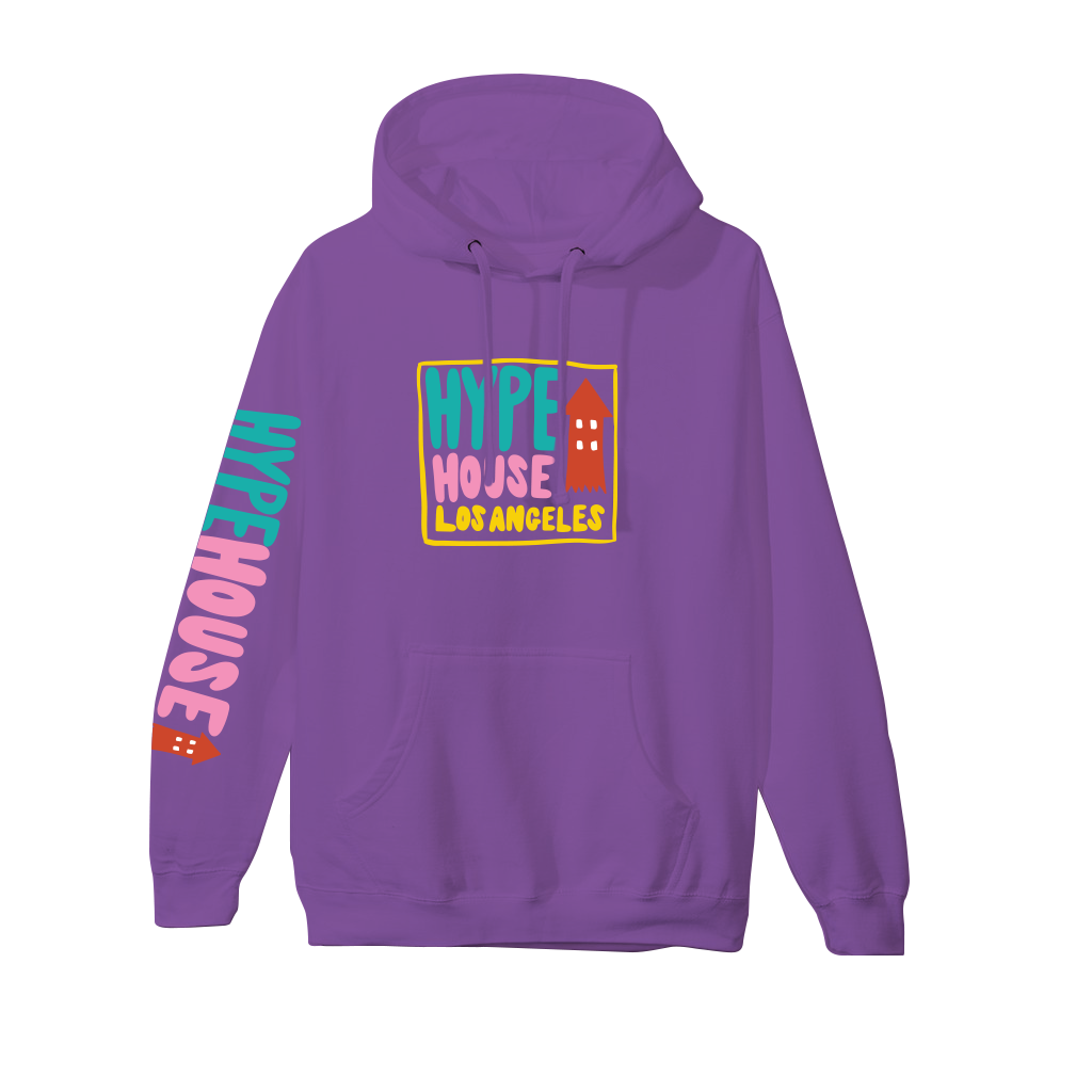 House Arrow Hoodie - Purple