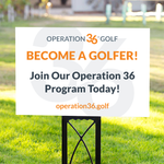 Become a Golfer Yard Sign