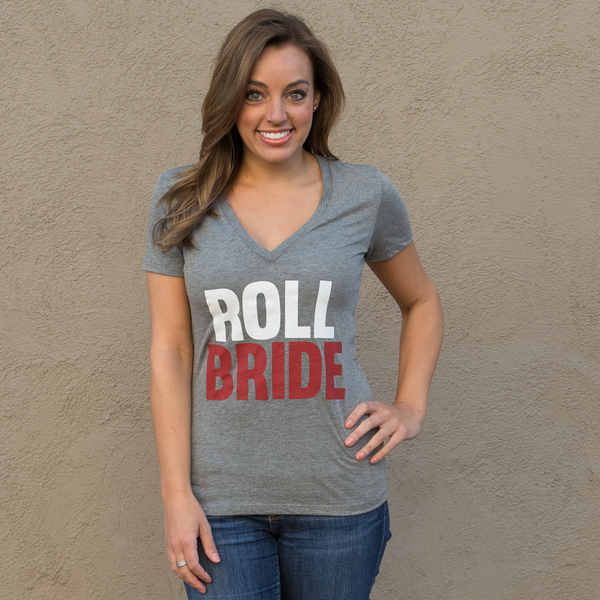 Roll Bride Grey V-neck
