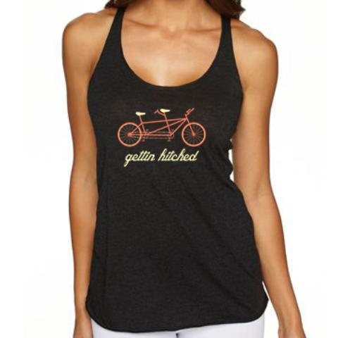 Gettin Hitched Tandem Bike Tank Top