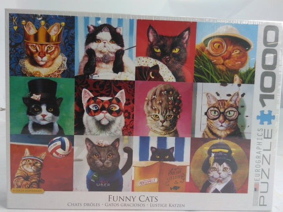 EUROGRAPHICS 6000-5522 Cat Portraits by Lucia Heffernan 1000 pc 24/26