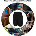 Women Neoprene Sauna Sweat Shorts with Pocket
