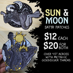 Sun & Moon Satyr Patches (PREORDER)