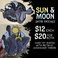 Sun & Moon Satyr Patches