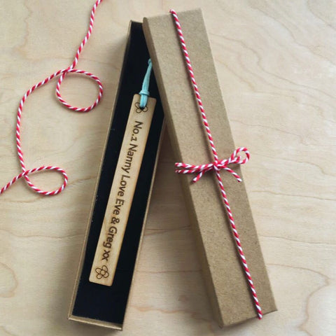 personalised bookmark and gift box