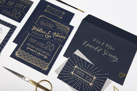 wedding stationery art deco