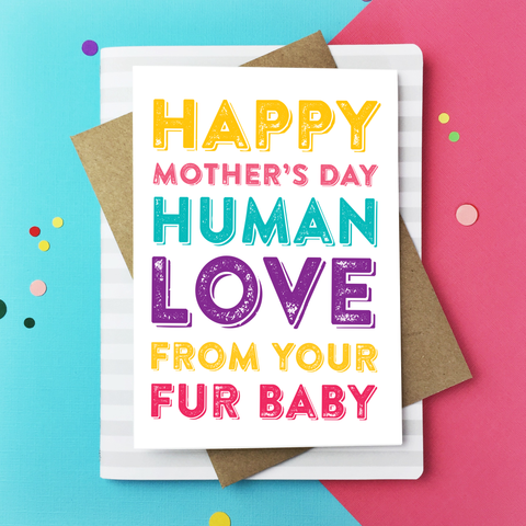 fur baby mother's day card