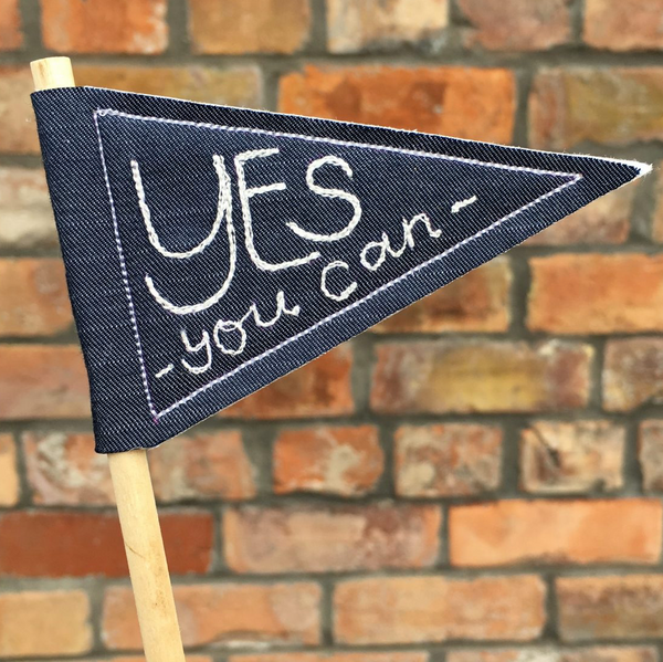 Yes You Can Positive pennant flag