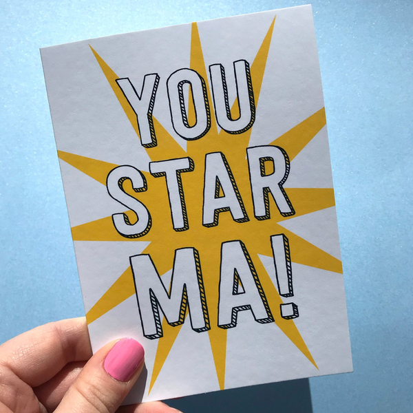 You Star Ma mother's day card