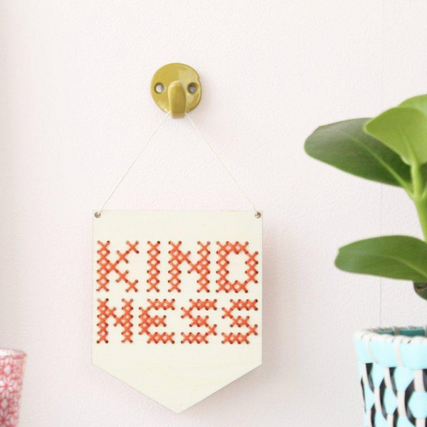 kindness cross stitch