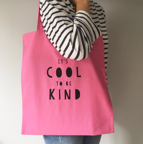 Be Cool Be Kind tote bag