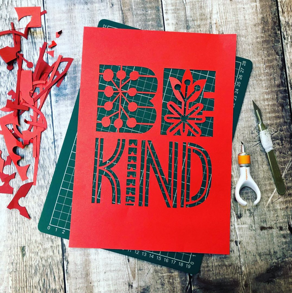 Be Kind Papercut