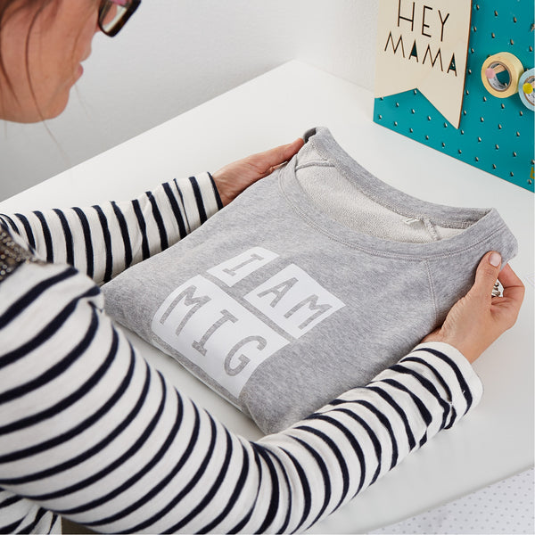 slogan sweatshirt for women
