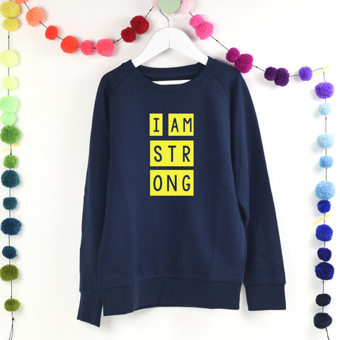 i am strong girl hero sweatshirt