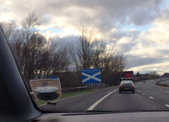 Scottish border signpost