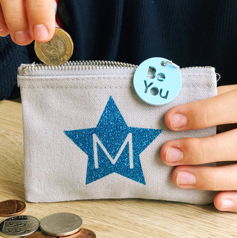 Personalised Initial Mini Purse with Charm