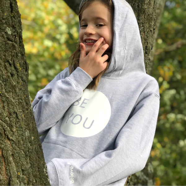 Be You kids hoodie featuring Hidden Positive Message