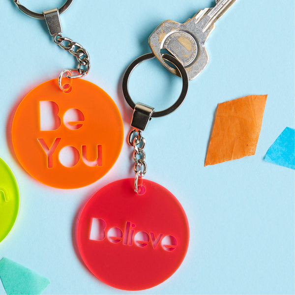 Positive Message Acrylic Keyring