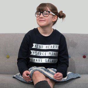Kind Heart, Fierce Mind, Brave Spirit kids sweatshirt