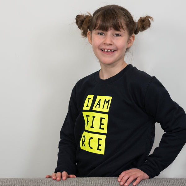 I am Fierce children's sweatshirt