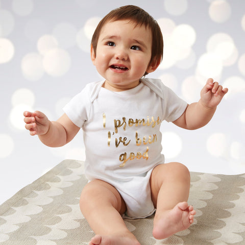 Baby's First Christmas Baby grow - I promise I've been good