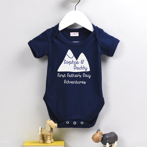 Father's Day First Adventures Personalised Baby Grow