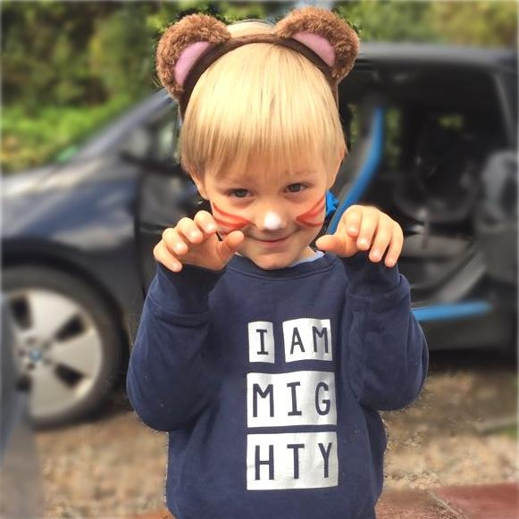 'I am Mighty' children's sweatshirt