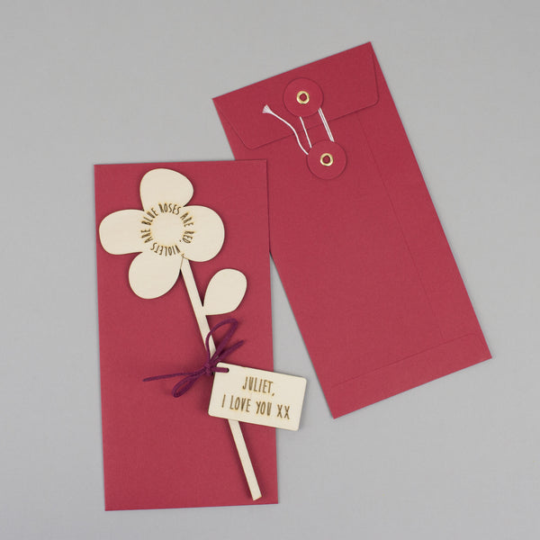 wooden flower packaging