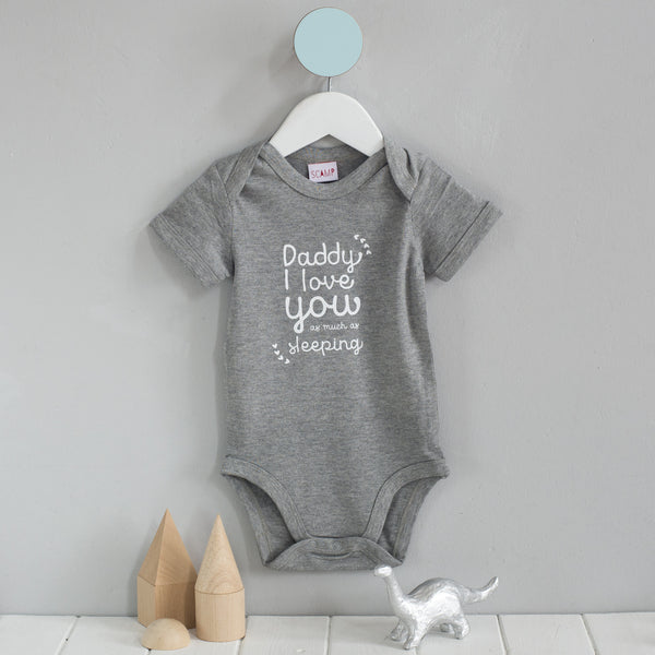 First Father's Day personalised Baby grow gift