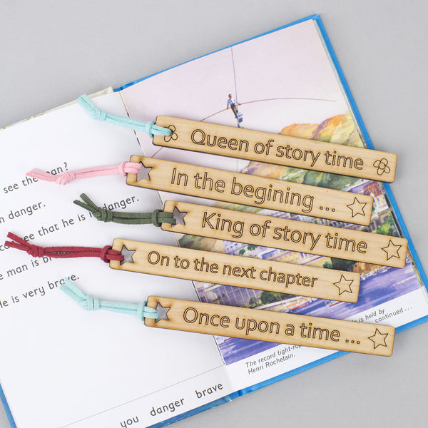 personalised wooden bookmark gift