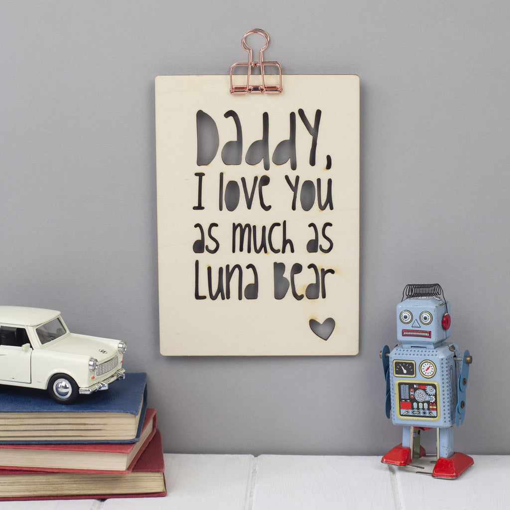 personalised Father's Day wall art