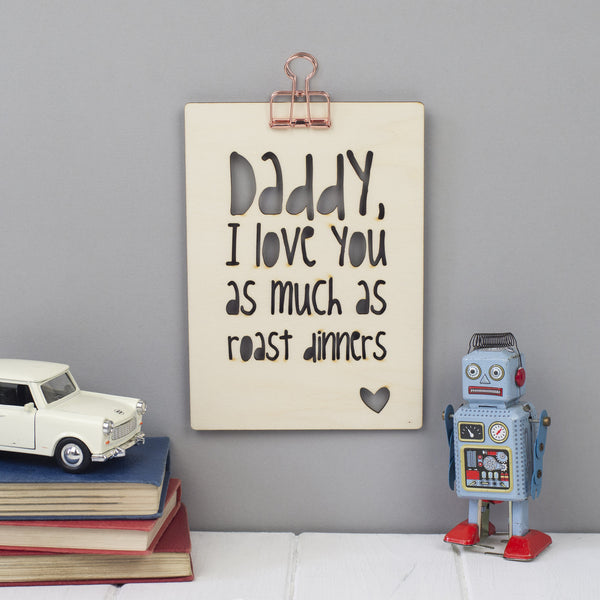 personalised father's day wooden picture gift