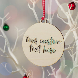 Personalised Wooden Bauble Christmas Decoration