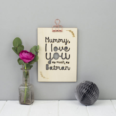 Mother's Day Typographic Personalised Wooden Picture