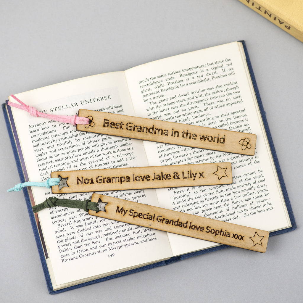 personalised bookmarks with different text