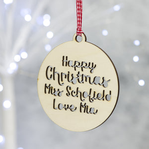 Personalised Christmas Decoration For Teacher Scamp