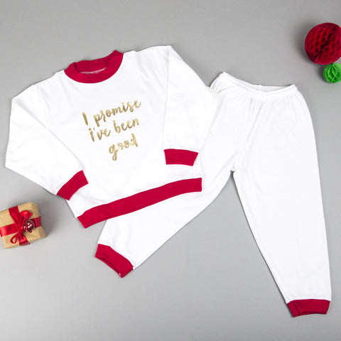 Children's Christmas Pyjamas - I promise I've been good